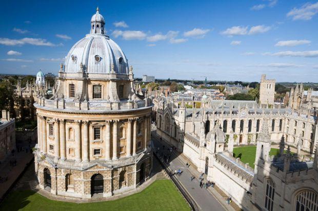 มหาวิทยาลัยออกซ์ฟอร์ดของอังกฤษ เป็นมหาวิทยาลัยอันดับ 1 ของโลก ตามการจัดอันดับของ Times Higher Education World University Rankings
